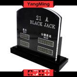 주문을 받아서 만들어진 작풍 큰잔 LED 전자 테이블 Limitcasino 테이블 내기 한계 표시 카드 (YM-LC07)