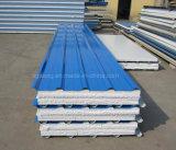 El panel de emparedado de acero de las lanas de EPS/PU/Mineral/el panel de pared/el panel incombustible de la azotea