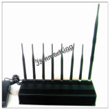 New EURO 8 Bands 18W GMS 2g 3G 4G WiFi 2.4GHz UHF VHF GPS Lojack RC Briefcase Jammer up to 50m
