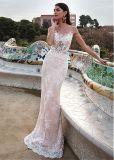 Deux en un sans manches robes de mariée robe de bal de la dentelle robe de mariée de Tulle H1620