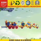 O teste padrão educacional popular do brinquedo obstrui o enigma para crianças