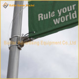 Poste Steet de lampe annonçant la bride de drapeau de câble
