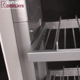 PVC를 가진 주문 장식용 매니큐어 금속 지면 진열대는 정착물을 광고한다