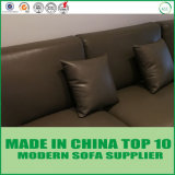 Modernes nordisches Art-Wohnzimmer-italienisches ledernes Feder-Sofa