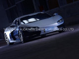 De nieuwe Elektrische Sportwagen Op hoog niveau van de Aankomst