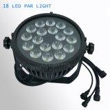 LED impermeável ao ar 18x18W RGBWA PAR LED UV luz pode lavar
