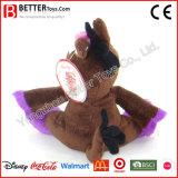 Brinquedo macio enchido animal do asno do luxuoso do presente da promoção En71 para miúdos