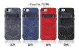 iPhone 8 더하기 카드 홀더 지갑을%s iPhone x를 위한 카드 홀더를 가진 전화 상자