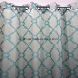 2018 Novo design verde cortina interior decoração de tecido Jacquard