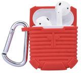 Appleの無線イヤホーンAirpodsのための反失われたシリコーンの箱カバー