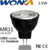 CREE LED MR11 Umbau-Scheinwerfer der Birnen-2.5W für im Freienbeleuchtung