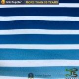 100% poliéster de sarga impreso en la playa de la piel de melocotón tejido corto