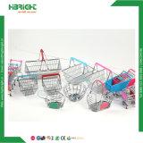 Aço inoxidável mini-supermercado Carrinho de Compras carrinho de armazenamento