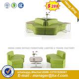 Casa de estilo moderno en forma de L esquina PU sofá de cuero (HX-SN8007)
