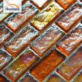 Stock Orange poire multicolore iridescent Mosaïque de verre