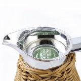 Boccetta di vuoto araba del rattan del POT del caffè della ricarica di vetro 1 L