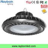 Luz elevada industrial do louro do diodo emissor de luz do UFO de 100W 120W 150W 200W 250W com 140lm/W garantia de 5 anos