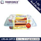 Pile alcaline primaire 1.5volt sec avec ce/ISO 24pcs (LR6/AA)