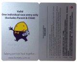 Funkelnde silberne Drucken-Karikatur-Geschenk-Karte für Förderung
