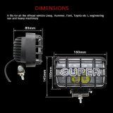 4D de protección IP68 45W 4 x 6 pulgadas resistente al agua Wrangler FARO DE LED DE 12V para Jeep
