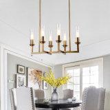 Breve luz de gota americana moderna/iluminação de vidro do candelabro
