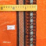 イブニング・ドレス、カーテンまたは衣服Hme879のための9cmのセクシーで黒い魚網の水溶性のレース