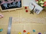 Merletto svizzero della maglia della guarnizione del ricamo del ricamo di larghezza del commercio all'ingrosso 11.5cm delle azione della fabbrica del merletto per l'accessorio degli indumenti e le tessile domestiche