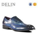41-46 El tamaño de los hombres de cuero auténtico coloridos zapatos de vestir