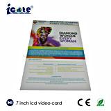 Nuevos productos tarjeta video del Librete-Vídeo del LCD de 7 pulgadas para la promoción del asunto