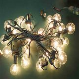 24 bulbos pretos ao ar livre do branco da luz da corda do soquete E27