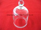 Bibo clair durable Cloche vide de verre de quartz avec le bouton Haut de page