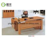 Escritorio de oficina de cuero de madera de los muebles modernos Yf-G3102