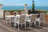 Moderner Entwurfs-Aluminiumlegierung-Speisetisch und Stuhl-im Freienmöbel