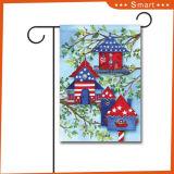 Decorativo exterior personalizado de alta calidad de impresión de imágenes de aves voladoras Bandera Jardín
