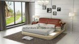 Chambre à coucher modernes en cuir italien lit double