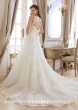 Vestido nupcial Vestido A da V-Garganta - linha vestidos de casamento W1223 do laço