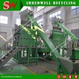 Goma Shrewell rallar la máquina de chatarra reciclaje de llantas