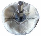 Roda de lustro lustrando montada cálice do algodão para o metal