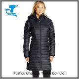 Куртка подушки порошка женщин гибридная длинняя