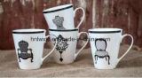 De in het groot 11oz Arabische Ceramische Kop van de Koffie met Lepel