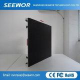 Taux de rafraîchissement élevé P4.8mm Indoor Affichage LED de location de bord avec armoire 768*768mm