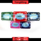 Набор микросхем казина chipset/покера кроны высокой ранга изготовленный на заказ пластичный акриловый с алюминиевым случаем (YM-SCMA002)