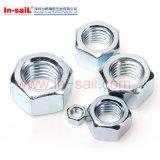 ISO4032 noix Hex Zp utilisé avec l'acier allié