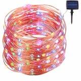 Lumière colorée 100LED de cuivre solaire de lumière Lumière extérieure de décoration d'arbre de Noël de LED pour le festival de paysage de jardin