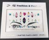 Collant acrylique de diamants de renivellement d'oeil de collants de Rhinestone de face d'oeil d'arts du spectacle de collant de tatouage (S054)