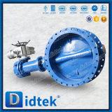 При низкой температуре Didtek тройной эксцентрик двухстворчатый клапан