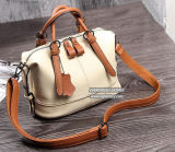 Bolsa de couro do plutônio da forma do saco de ombro do Tote do punho de Brown para as mulheres Sy8523