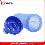 20oz/600ml de proteína de plástico do vaso da peneira do agitador com bola e empunhadura(KL-7010D)