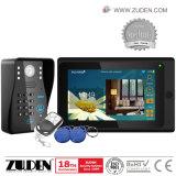 Telefone video sem fio da porta 720p de WiFi do teclado do código de RFID com a tela de toque 7inch