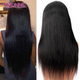 Peluca llena del pelo humano de la peluca el 100% del cordón del pelo recto brasileño de la Virgen
